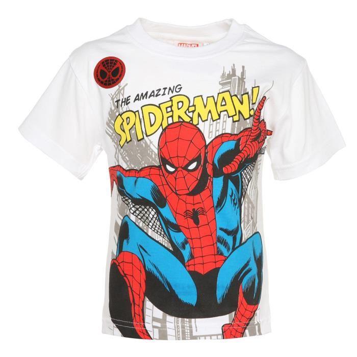 spiderman t shirt enfant gar on aucune pickture. Black Bedroom Furniture Sets. Home Design Ideas
