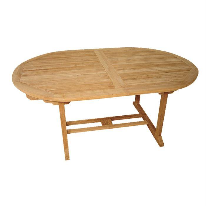 Table ovale extensible en teck massif aucune pickture - Table ovale en teck ...