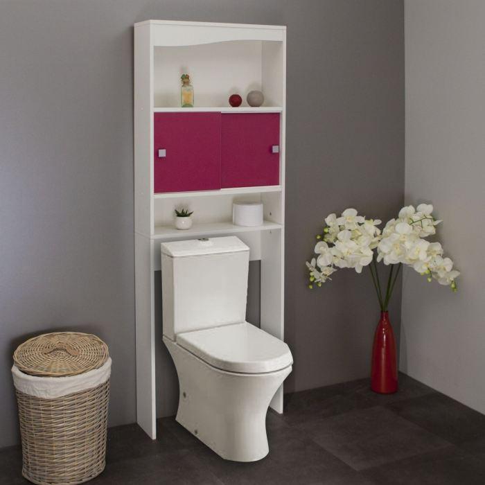 Meuble wc machine a laver fushia aucune pickture for Meuble de toilette ikea