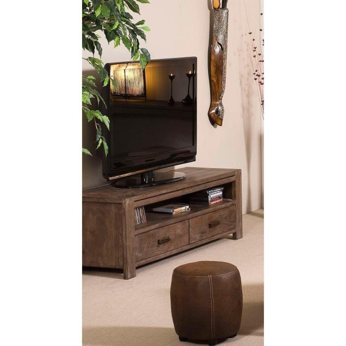 Meuble Tv Urban Acacia : Bastia Meuble Tv 2 Tiroirs En Acacia