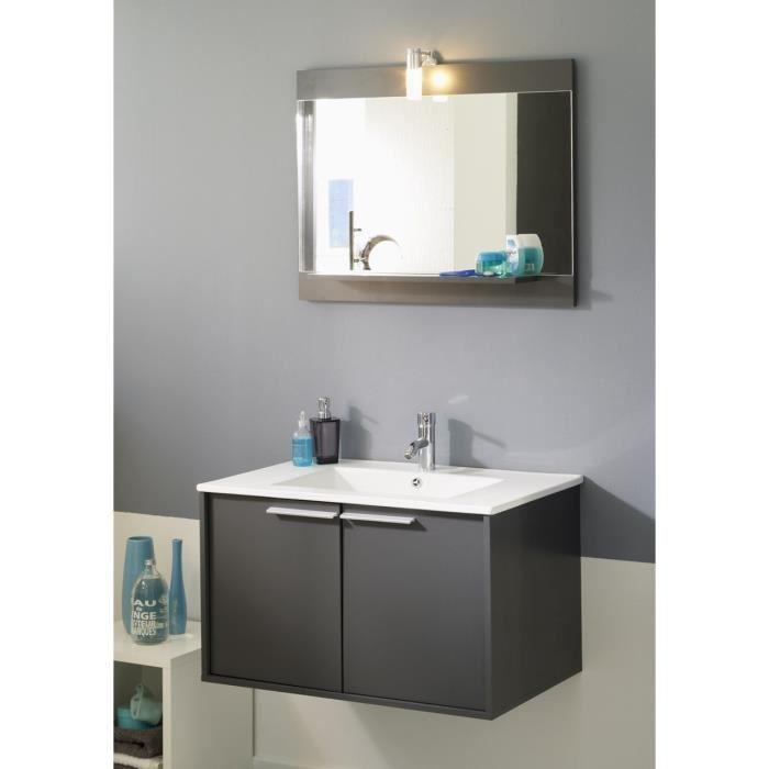 meuble salle de bain wave gris