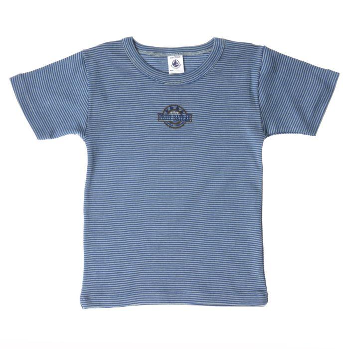 petit bateau t shirt gar on bleu a rayures petit bateau pickture. Black Bedroom Furniture Sets. Home Design Ideas