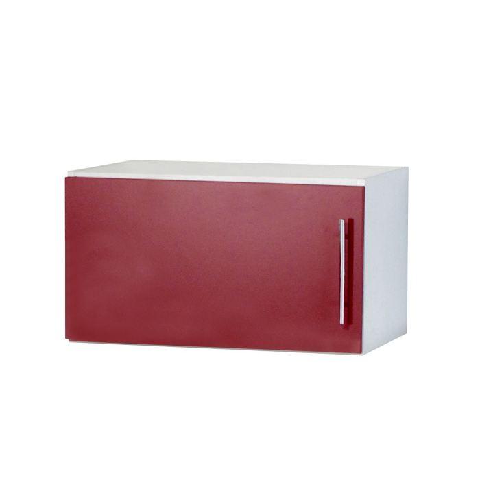 Trendy 2 meuble haut ou sur hotte l60 cm rouge aucune for Meuble sur hotte ikea