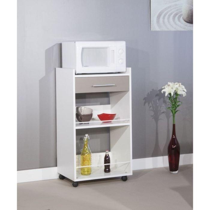 desserte micro ondes 2 tageres 1 tiroir aucune pickture. Black Bedroom Furniture Sets. Home Design Ideas