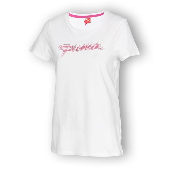 puma tee shirt femme puma pickture. Black Bedroom Furniture Sets. Home Design Ideas