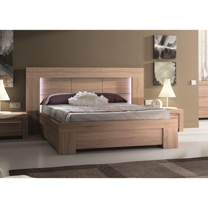 odessa lit 140 x 190 clairage leds aucune pickture. Black Bedroom Furniture Sets. Home Design Ideas
