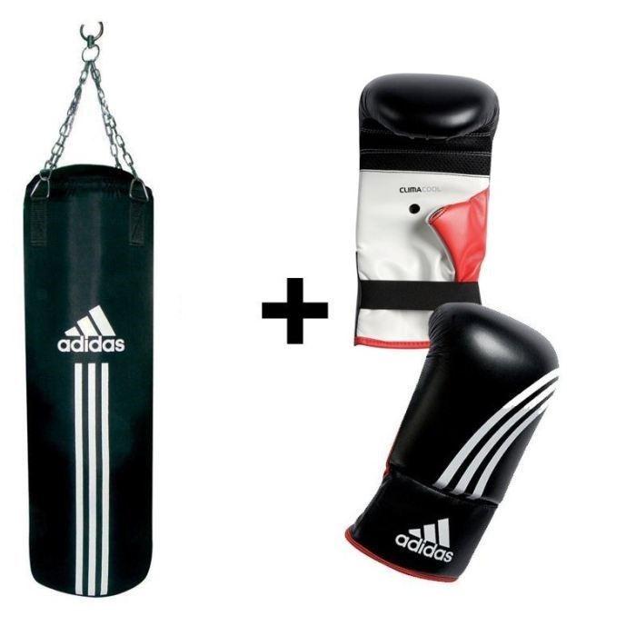 Adidas kit sac de frappe gants adibgs01 adidas pickture for Sac de frappe maison
