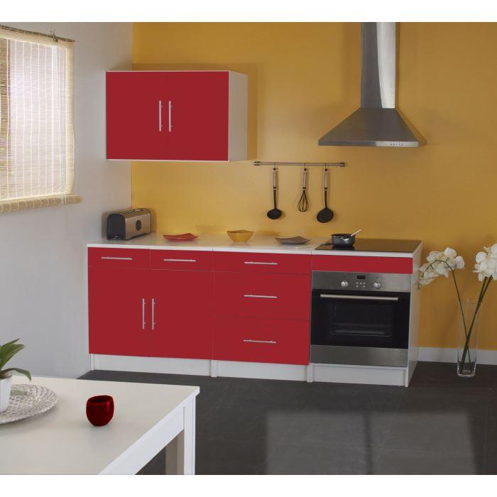 Cuisine complete trendy rouge aucune pickture for Acheter cuisine complete