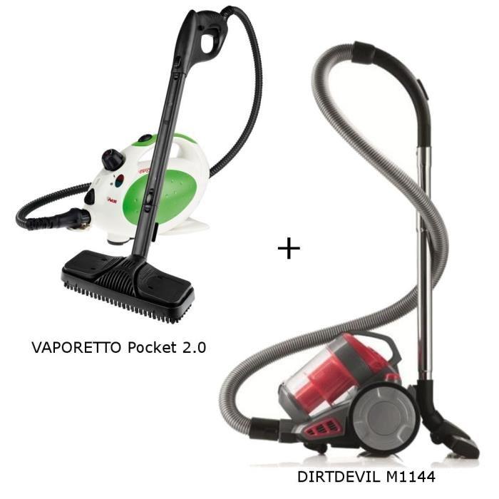 pack exclusif aspirateur sans sac nettoyeur vapeur dirt. Black Bedroom Furniture Sets. Home Design Ideas