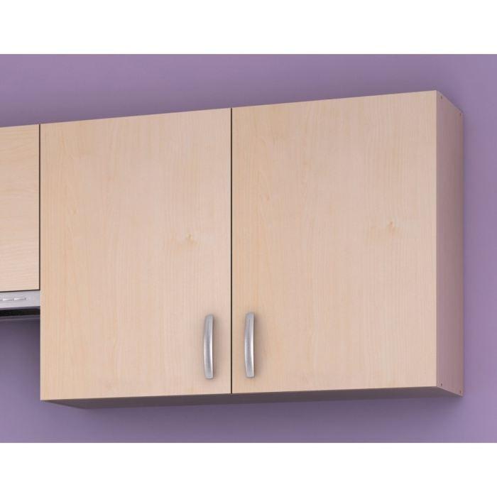 Paprika meuble de cuisine haut 100 cm 2 portes aucune for Meuble haut porte pliante
