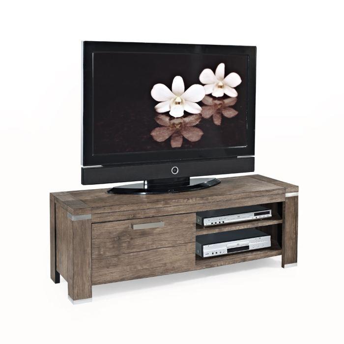 Doria meuble tv 130cm d cor noyer aucune pickture - Meuble tv geek ...