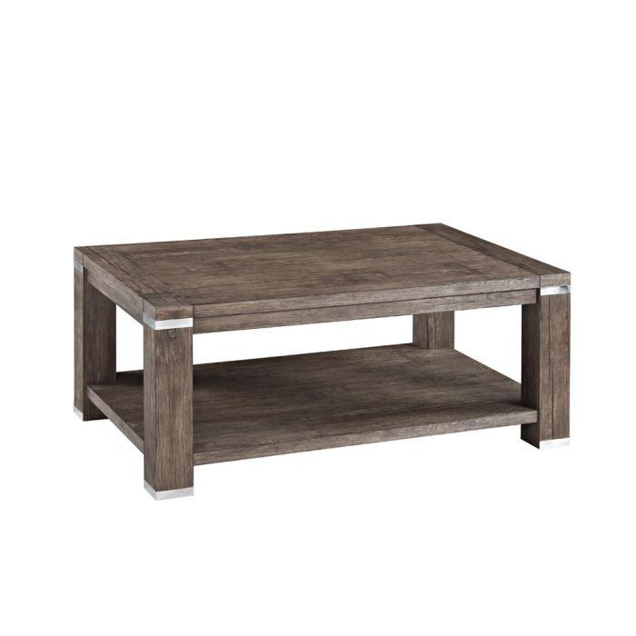 doria table basse pvc structur d cor noyer aucune pickture. Black Bedroom Furniture Sets. Home Design Ideas