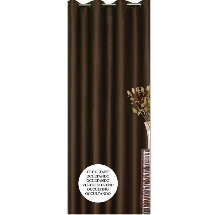 rideau occultant chocolat 140x260cm aucune pickture. Black Bedroom Furniture Sets. Home Design Ideas