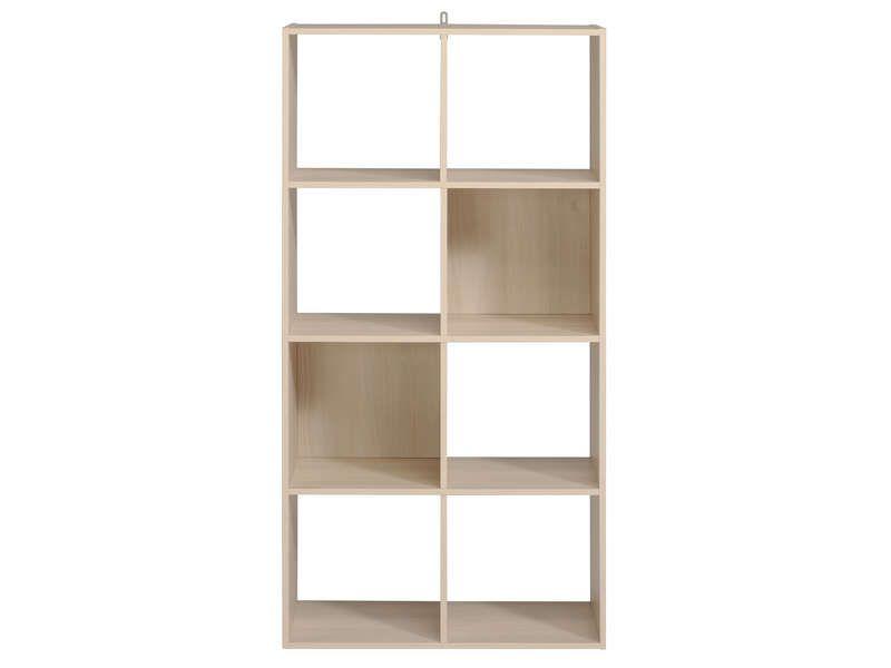 biblioth que 8 cases kubikub coloris acacia conforama pickture. Black Bedroom Furniture Sets. Home Design Ideas