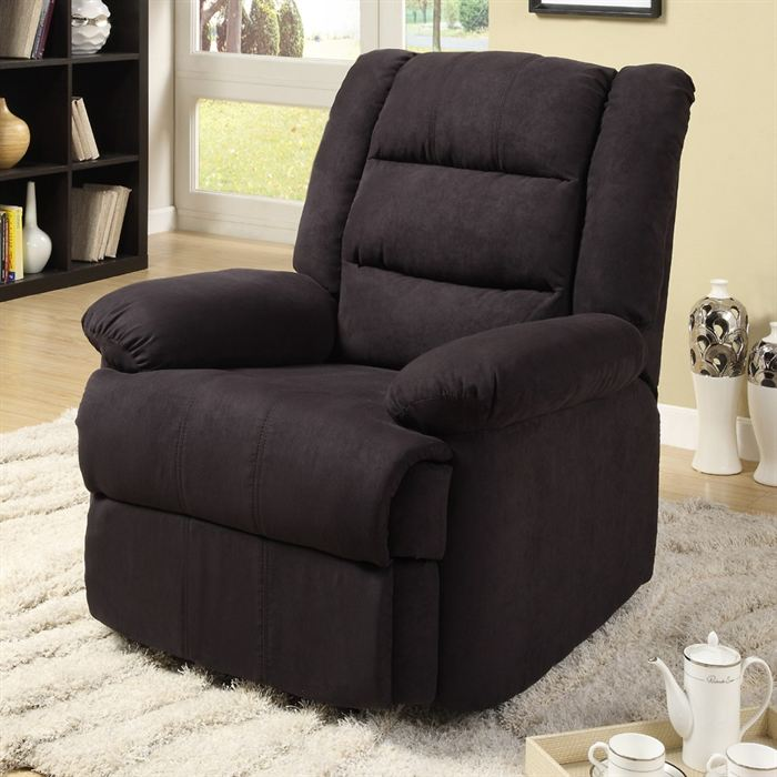 fauteuil de relaxation noir en microfibre aucune pickture. Black Bedroom Furniture Sets. Home Design Ideas