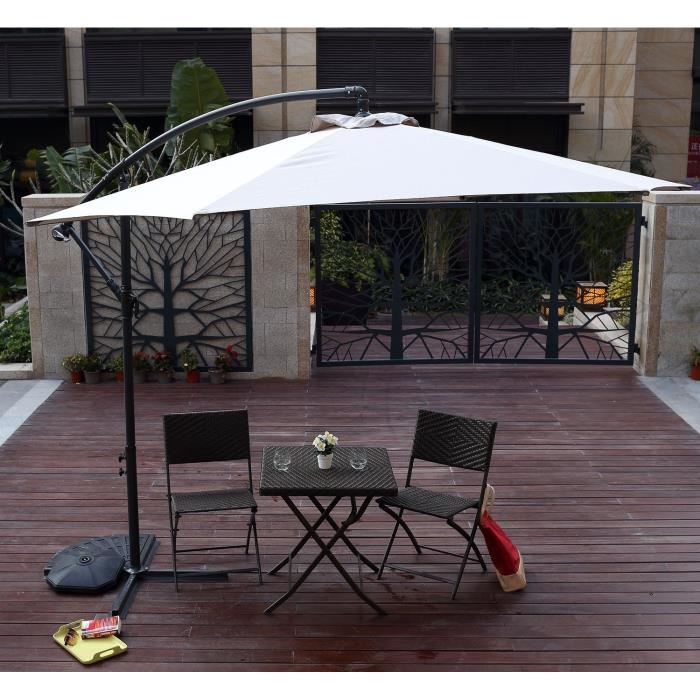parasol d port en aluminium 3 m aucune pickture. Black Bedroom Furniture Sets. Home Design Ideas