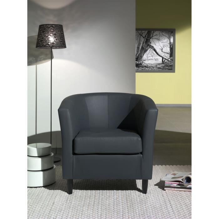 orleans fauteuil cabriolet en simili noir aucune pickture. Black Bedroom Furniture Sets. Home Design Ideas
