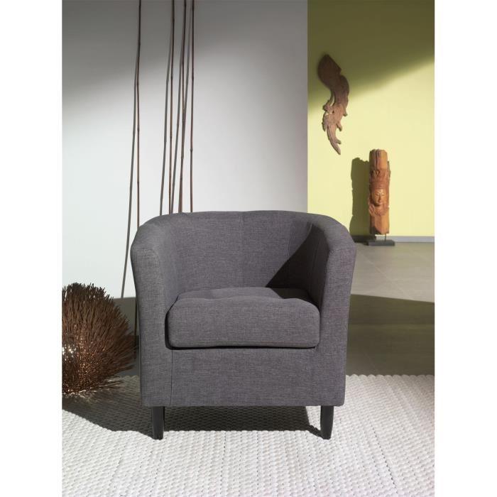 orleans fauteuil cabriolet en tissu gris aucune pickture. Black Bedroom Furniture Sets. Home Design Ideas