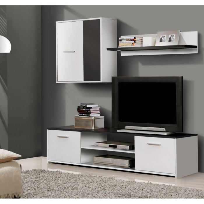paco s jour tv blanc et noir 160cm aucune pickture. Black Bedroom Furniture Sets. Home Design Ideas