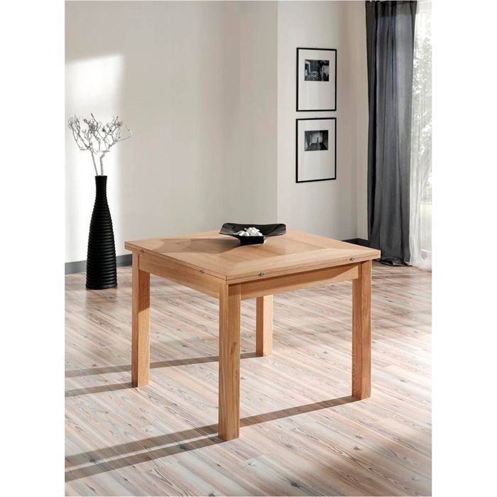 Table carr e extensible 100 chene massif aucune pickture - Table chene extensible ...