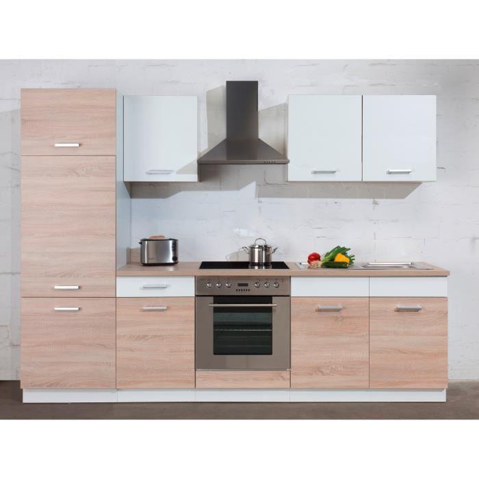 Sonoma cuisine complete de 270cm chene sonoma aucune for Acheter cuisine complete