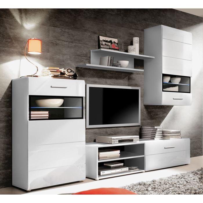 Slate meuble tv blanc noir 243x184 cm aucune pickture - Meuble tv geek ...
