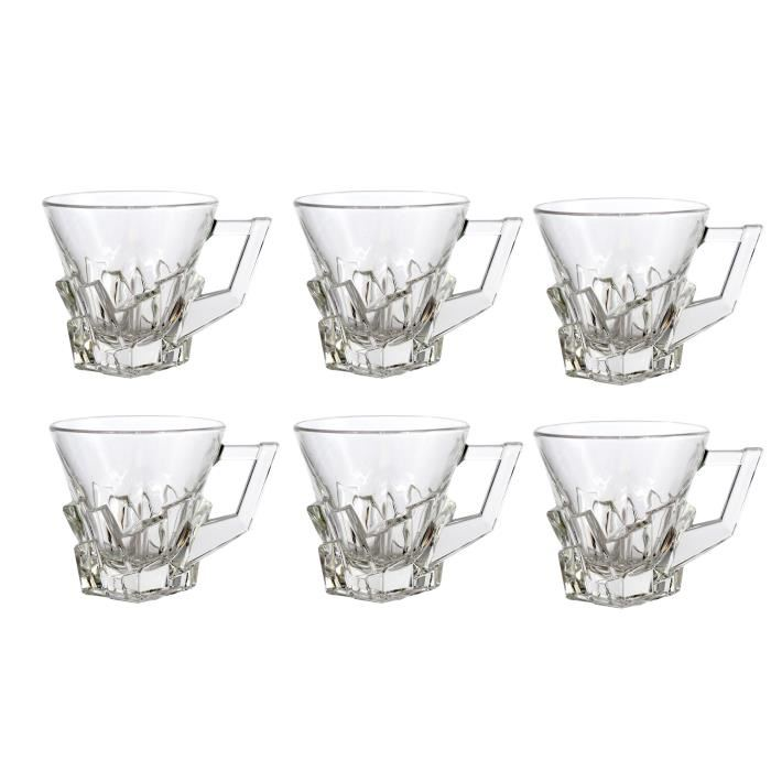 lot de 6 tasses a caf crack aucune pickture. Black Bedroom Furniture Sets. Home Design Ideas