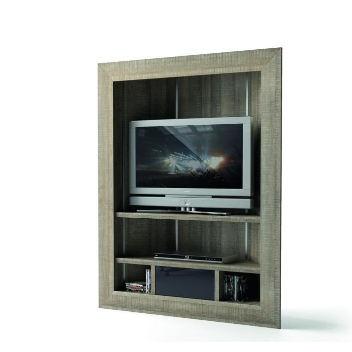 atlanta meuble tv d 39 angle haut 111 cm laqu gris aucune. Black Bedroom Furniture Sets. Home Design Ideas