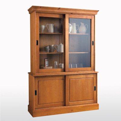 buffet vaisselier en pin massif 4 portes la redoute pickture. Black Bedroom Furniture Sets. Home Design Ideas