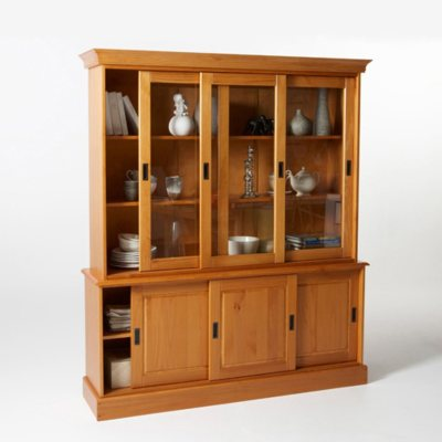 buffet vaisselier en pin massif 6 portes la redoute. Black Bedroom Furniture Sets. Home Design Ideas