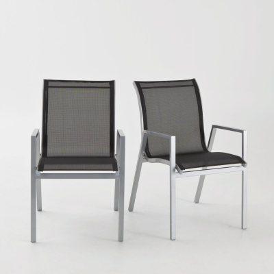 salon de jardin m tal et verre table 6 chaises la redoute pickture. Black Bedroom Furniture Sets. Home Design Ideas