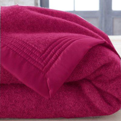 couverture unie 600 g m pure laine vierge la redoute. Black Bedroom Furniture Sets. Home Design Ideas