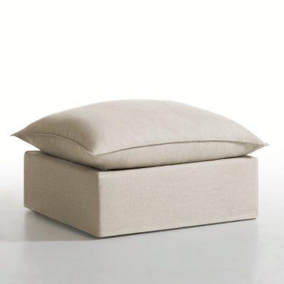 pouf d houssable lin coton n lia la redoute pickture. Black Bedroom Furniture Sets. Home Design Ideas