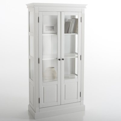 biblioth que vitr e pin massif coloris blanc la redoute pickture. Black Bedroom Furniture Sets. Home Design Ideas