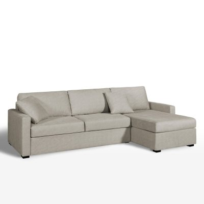 Canap d 39 angle lit couchage express tiss coton la for Canape d angle la redoute