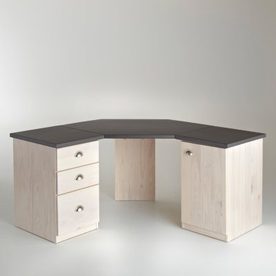 bureau d 39 angle double caisson betta la redoute pickture. Black Bedroom Furniture Sets. Home Design Ideas