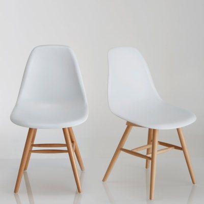 Chaise Coque Plastique Lot De 2 Jimi La Redoute