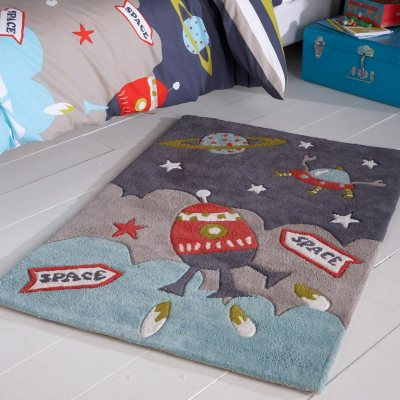 tapis enfant toile coton tuft 2 tailles milo la redoute pickture. Black Bedroom Furniture Sets. Home Design Ideas
