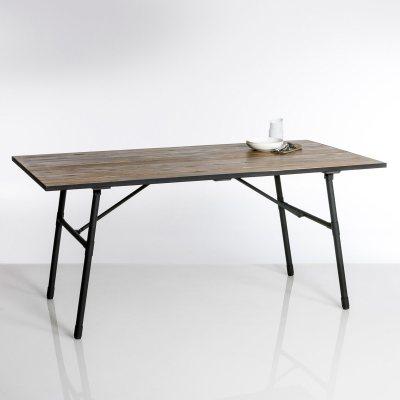 Table de jardin pliante bois et m tal sohan la redoute for Table de cuisine la redoute