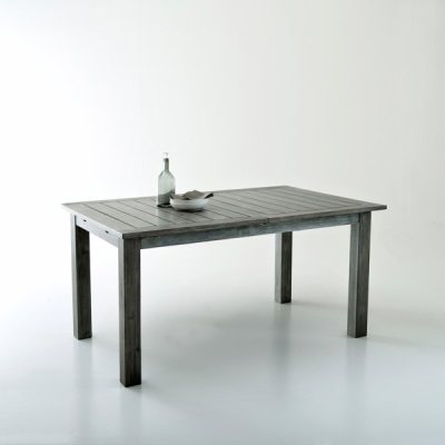 Table de jardin avec allonge papillon eucalyptus la for Table jardin la redoute