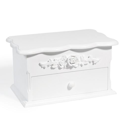 bo te bijoux blanc rosa maisons du monde pickture. Black Bedroom Furniture Sets. Home Design Ideas