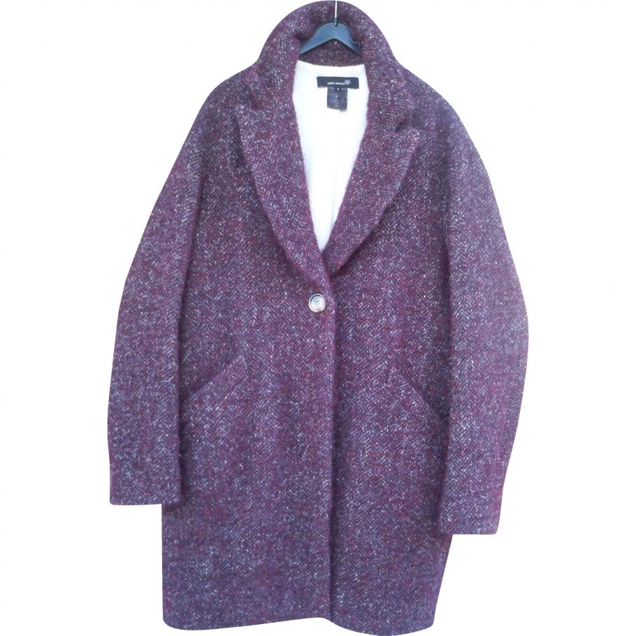 manteau oversize forme ovo de laine tweed motif isabel marant pickture. Black Bedroom Furniture Sets. Home Design Ideas