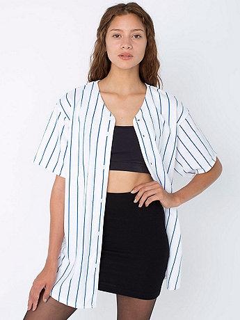 american apparel t shirt de baseball unisexe en american apparel pickture. Black Bedroom Furniture Sets. Home Design Ideas
