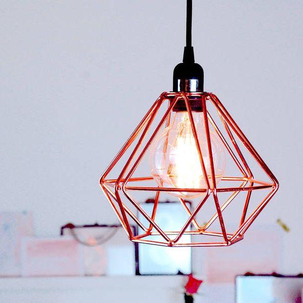 Nordic Geometric Copper Ceiling Pendant Light