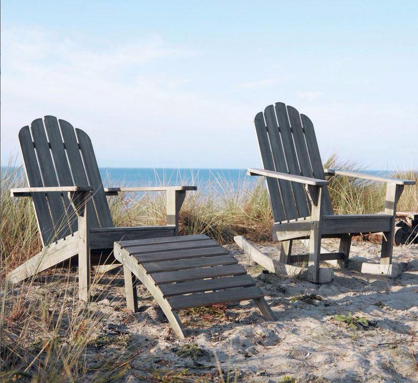 Chaise longue en bois gris maisons du monde pickture - Maison du monde chaise longue ...